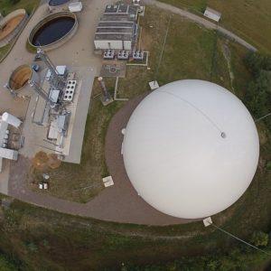 Luftbild Biogasaufbereitungsanlage Coesfeld